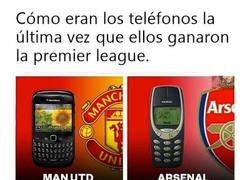Enlace a La evolución de los campeones de la Premier a través de los teléfonos