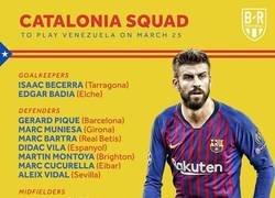 Enlace a Piqué y Xavi vuelven a la selección catalana