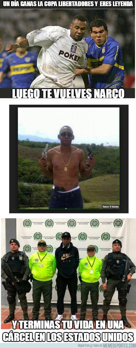 1068955 - Jhon Viafara, un futbolista colombiano terminó exportando coca