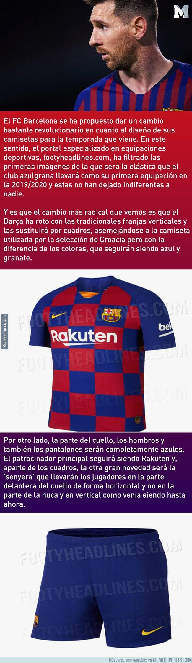 1068989 - Se filtran las primeras imágenes de la revolucionaria nueva equipación del FC Barcelona