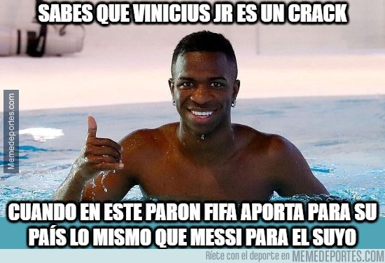 1069207 - Vinicius rindió igual que Messi en la fecha FIFA