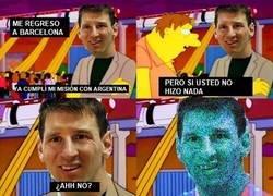 Enlace a Messi regresa a Barcelona