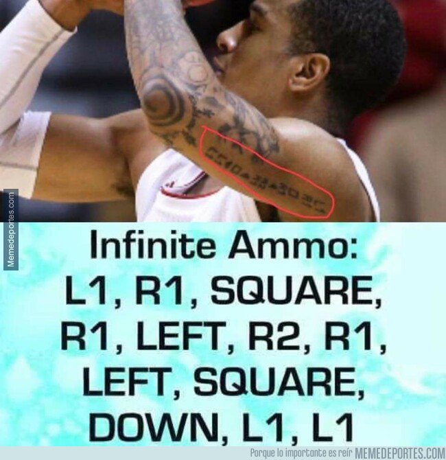 1069259 - Devonte Green, jugador del Indiana Hoosiers tiene tatuado un cheat del San Andreas