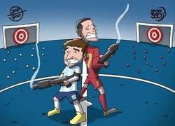Enlace a Messi y Cristiano fallan con sus selecciones, por @koortoon