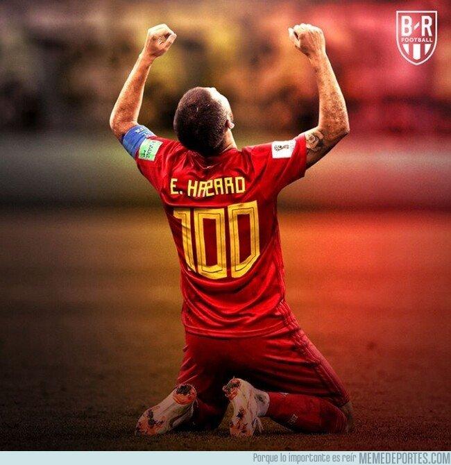 1069332 - Hazard alcanza el centenar de internacionalidades, por @brfootball