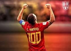 Enlace a Hazard alcanza el centenar de internacionalidades, por @brfootball