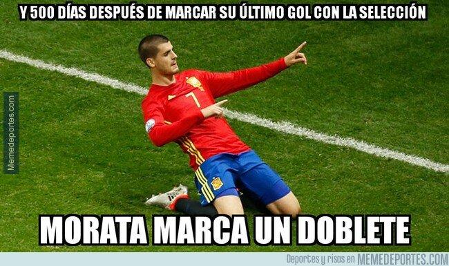 1069510 - Morata volvió a anotar con 'La Roja'