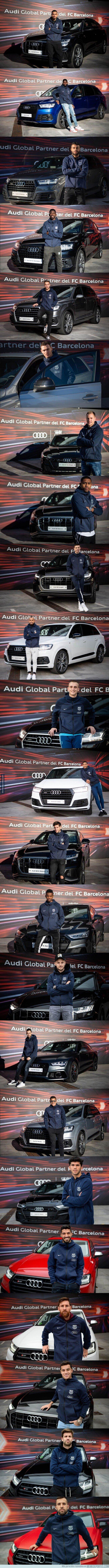1069543 - Estos son los nuevos cochazos Audi que han regalado a los jugadores del Barça