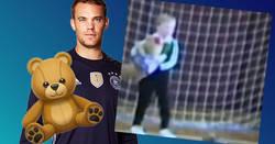 Enlace a Manuel Neuer y su oso de peluche