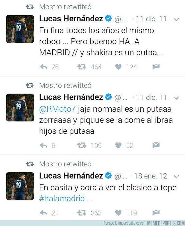 1069664 - Buen momento para recordar estos tweets antiguos de Lucas Hernández