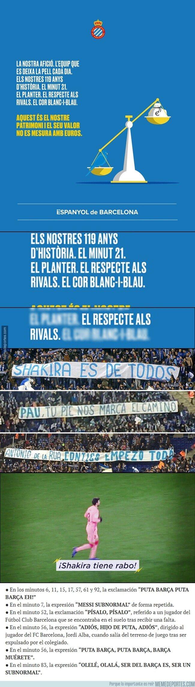 1069748 - Espanyol le contestó a Piqué presumiendo de 'otro patrimonio' y la verdad, pues...