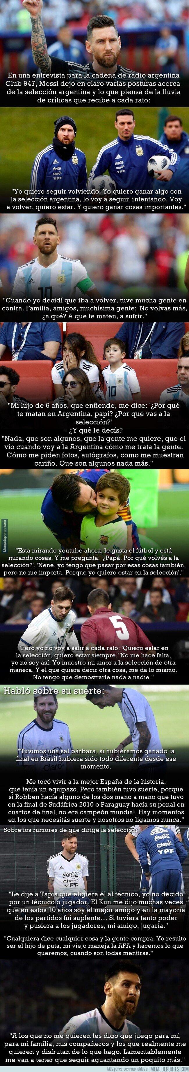 1069764 - Las declaraciones de Messi en una entrevista para sacarse un clavo grande