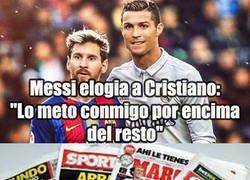 Enlace a Las palabras de Messi dejan retratados