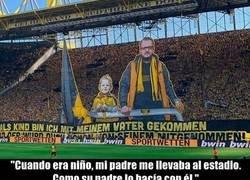 Enlace a La nostálgica pancarta del Dortmund para evocar recuerdos
