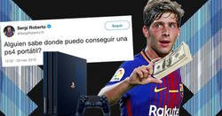Enlace a Sergi Roberto pide dónde comprar una PS4 portátil, y los comentarios son lo mejor