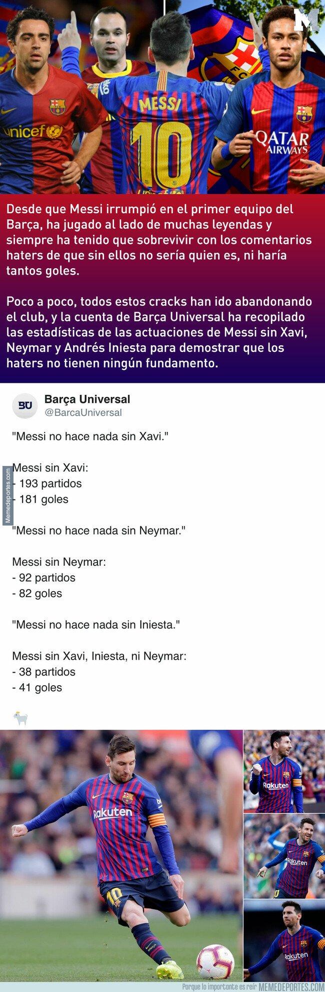 1069976 - Las estadísticas de Messi sin Xavi, Iniesta y Neymar no son lo que la gente esperaba