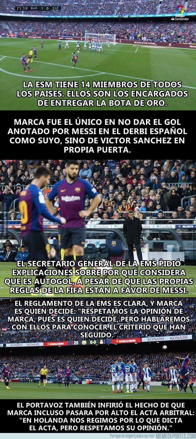 1069984 - La ESM habló con Marca sobre el gol de Messi que no concedieron