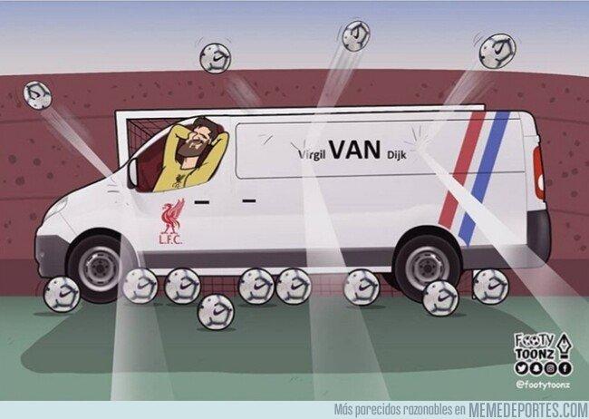 1070043 - Alisson y el Liverpool puede estar tranquilos con Van Dijk, por @footytoonz
