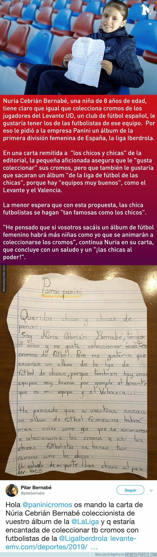 1070059 - Una niña de 8 años le escribió a Panini para que haga un álbum de cromos de fútbol femenino