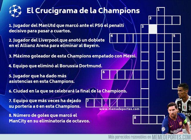 1070473 - Hasta que lleguen los cuartos, puedes entretenerte con El Crucigrama de la Champions