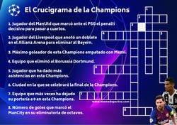 Enlace a Hasta que lleguen los cuartos, puedes entretenerte con El Crucigrama de la Champions