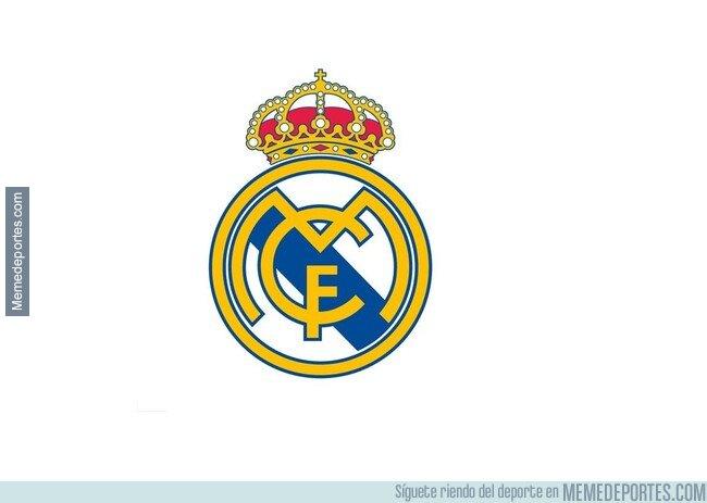 1070515 - Pondré únicamente el escudo del Madrid sin texto ni nada. Ya que son un meme en si mismo.