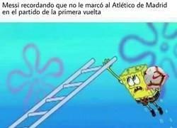 Enlace a Messi tenía una cuenta pendiente
