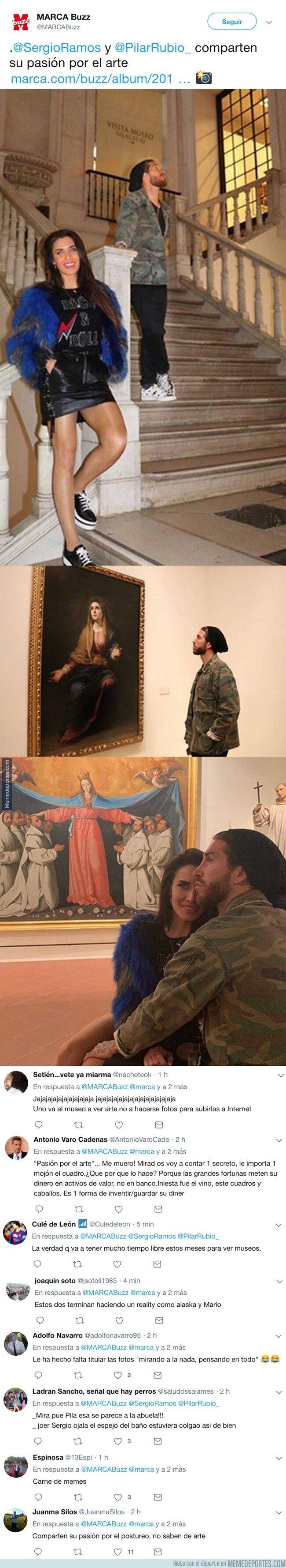 1070724 - Según Marca, Ramos y su mujer son expertos en arte. Gracias que tenemos los comentarios
