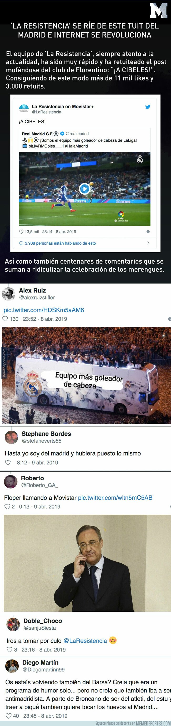 1070806 - La Resistencia se burla de este tuit del Real Madrid e internet se revoluciona