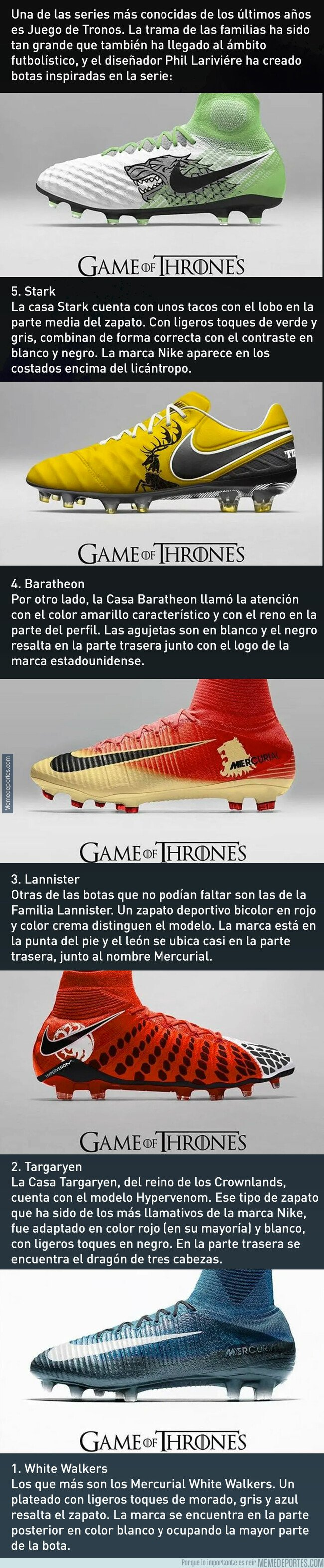 1070809 - Las botas de fútbol inspiradas en Juego de Tronos