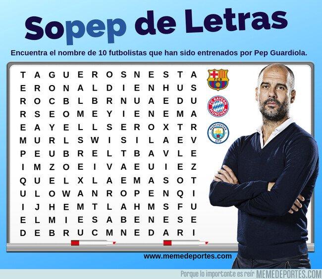 1070932 - Encuentra a 10 jugadores entrenados por Guardiola en nuestra 'Sopep de Letras'