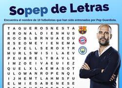 Enlace a Encuentra a 10 jugadores entrenados por Guardiola en nuestra 'Sopep de Letras'