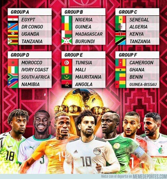 1071259 - Así quedan los grupos de la Copa África 2019, por @433