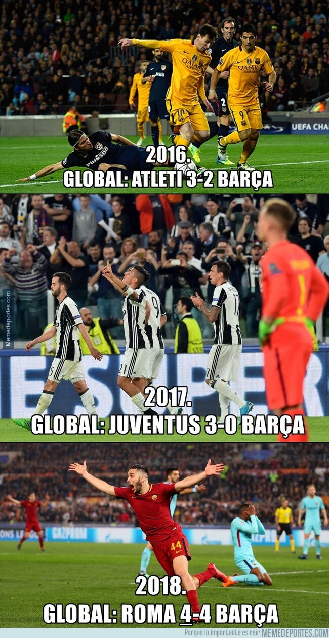 1071599 - Las últimas 3 derrotas del Barça en los cuartos de Champions