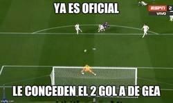 Enlace a Le dan el segundo gol a De Gea