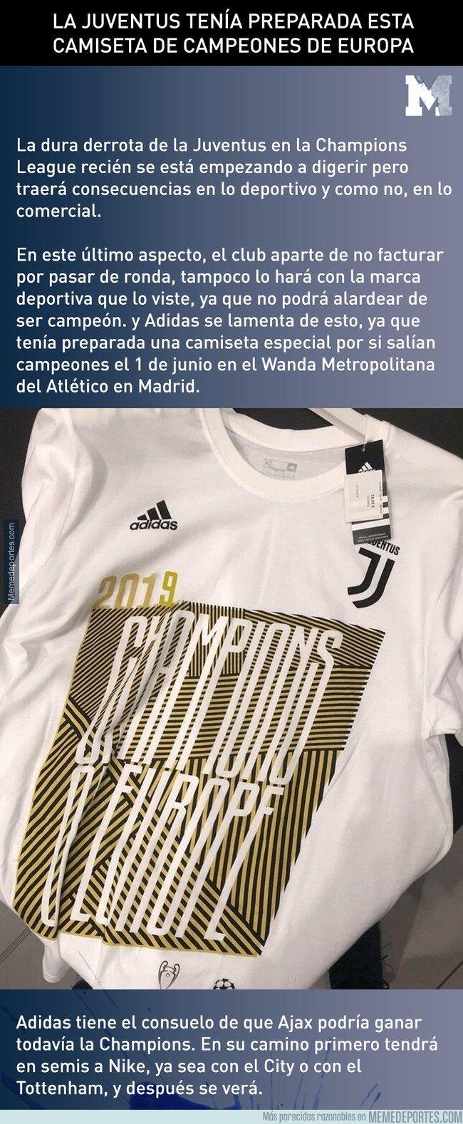 1071773 - La Juventus tenía preparada esta camiseta de campeones de Europa