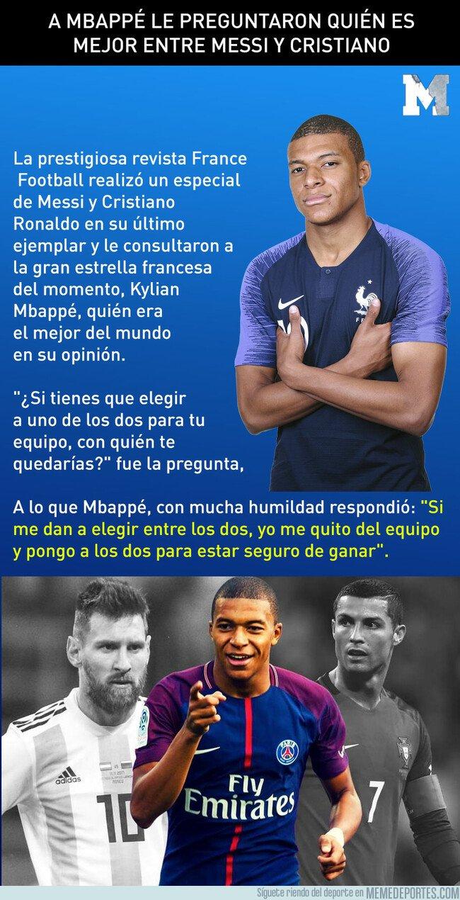 1071805 - A Mbappé le preguntaron quién es mejor entre Messi y Cristiano y su respuesta sorprendió a todos