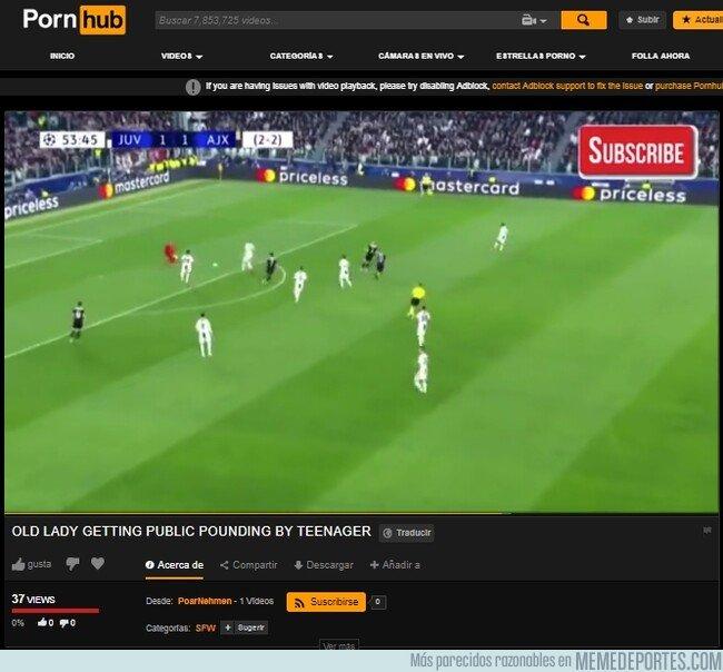 1071869 - No es coña. Alguien de verdad subió el resumen del Juventus-Ajax a Prnhub