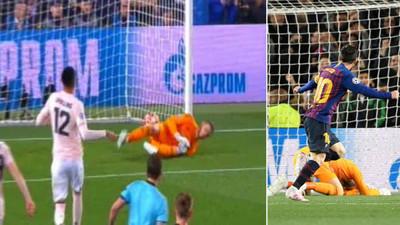 1071992 - El detalle de Ter Stegen con De Gea tras su fallo en el segundo de Messi