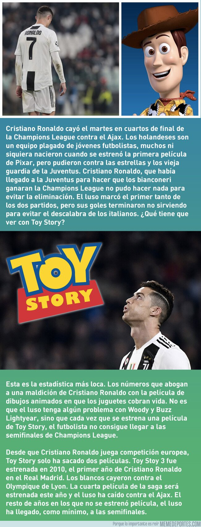 1071997 - La maldición de Toy Story y Cristiano Ronaldo en Champions League