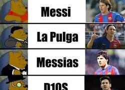Enlace a La evolución del mote de Messi