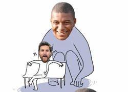 Enlace a Messi se queda sin mojar y tiene a Mbappé muy cerca en la bota de oro