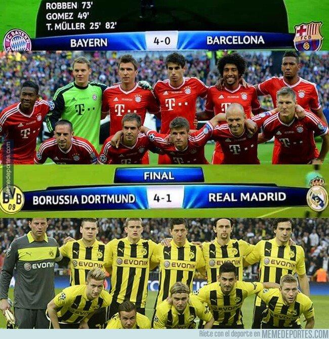 1072512 - Hace 6 años los alemanes dañaron los planes de 'El Clásico' en la final de Champions
