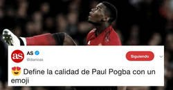 Enlace a AS pide a sus lectores que definan la calidad de Paul Pogba con un emoji... y el veredicto final es claro