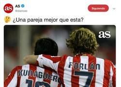 Enlace a Internet nunca falla: ¿una pareja mejor que Agüero y Forlán?