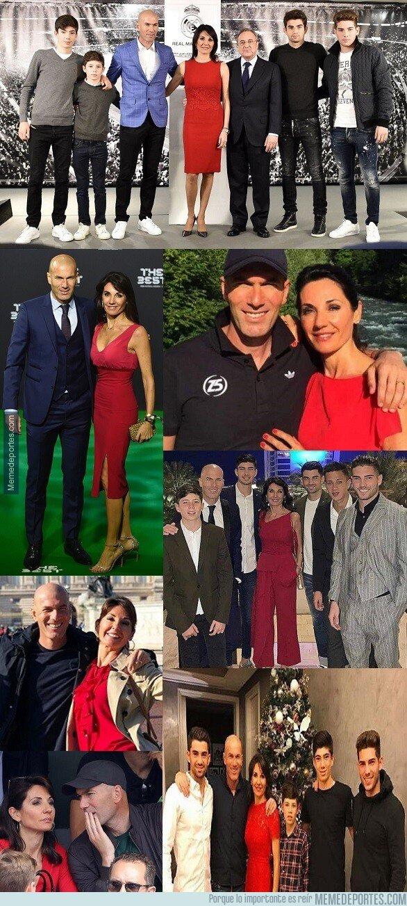 1072717 - Los vestidos y colores parecidos que usa siempre la mujer de Zidane.