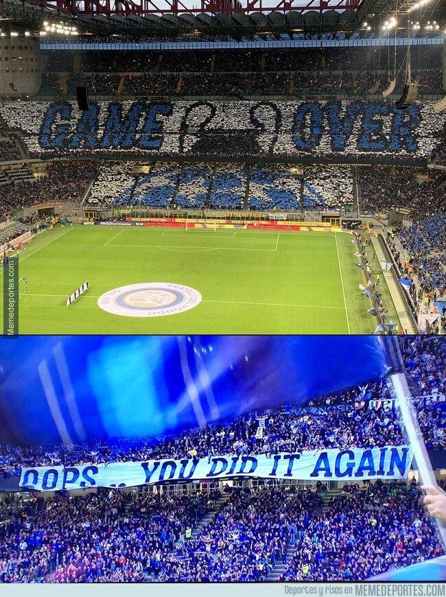 1072724 - Así recibió el Inter a la Juve por su eliminación en Champions.