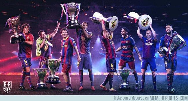 1072790 - Las 8 ligas de 11 que el Barça ha levantado, por @brfootball