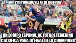 Enlace a El Barcelona femenino de fútbol se clasifica por primera vez a la final de la Champions.