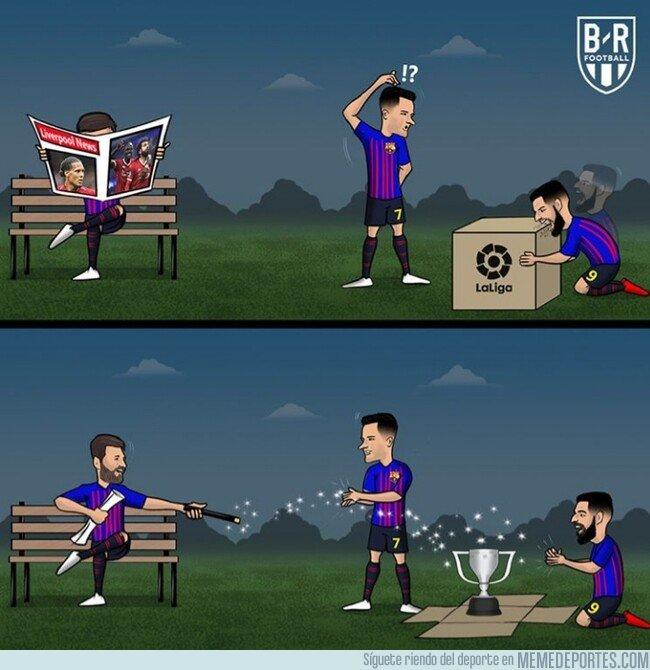 1072905 - La magia de Messi le da una nueva Liga al Barça, por @brfootball